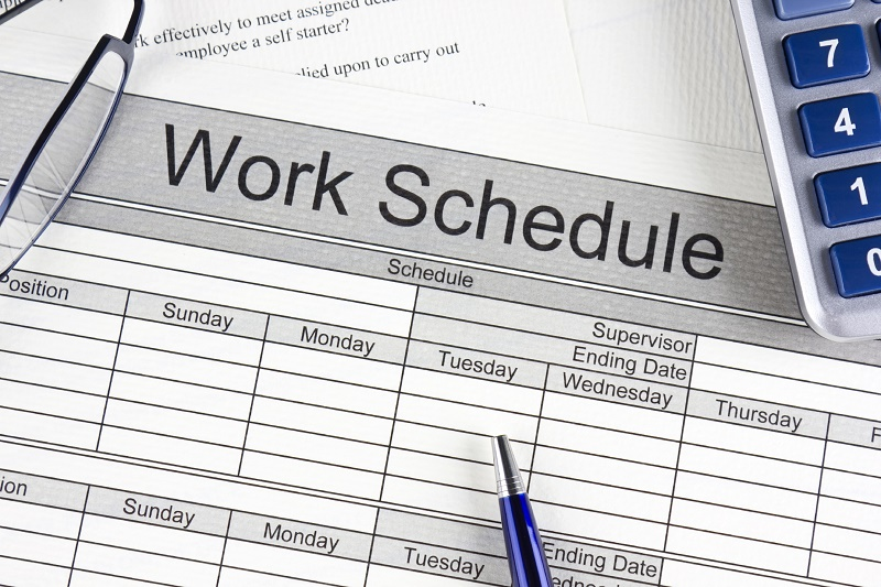 work in schedule