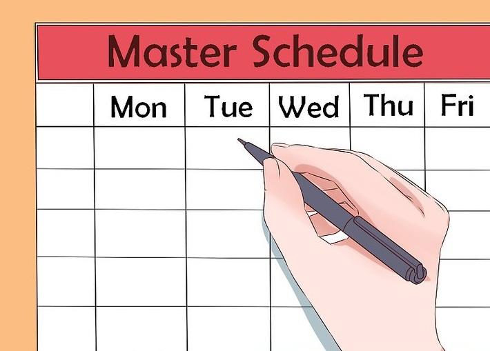 defined schedule