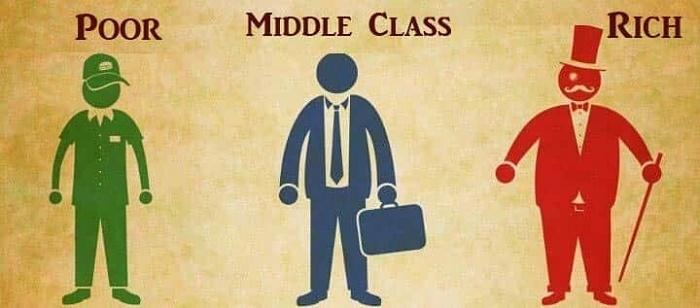 poor vs middle class vs rich